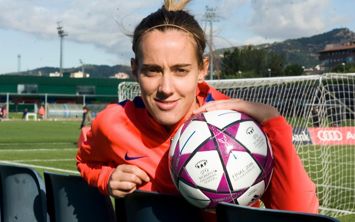 """Marta Unzué: """"Contra el Twente necessitem el suport de l'afició"""""""