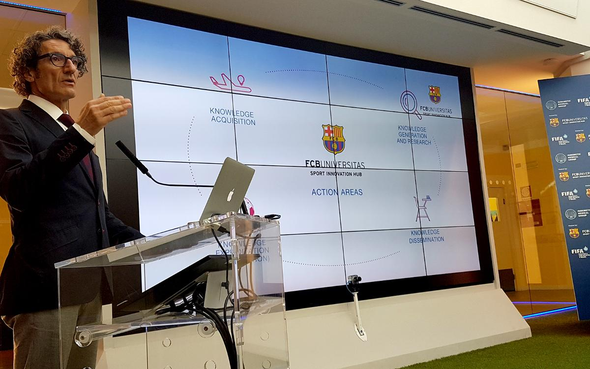 Dr. Jordi Monés presents FCB Universitas in Bologna