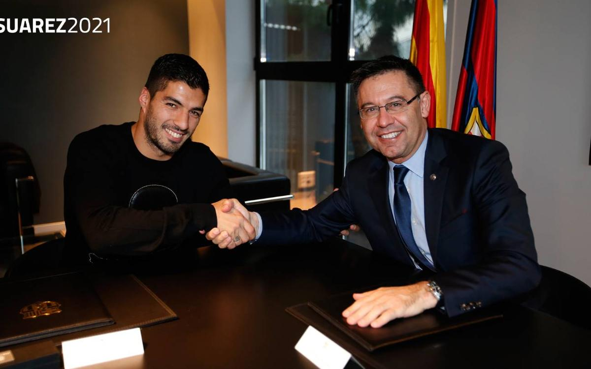 Luis Suárez signs new contract