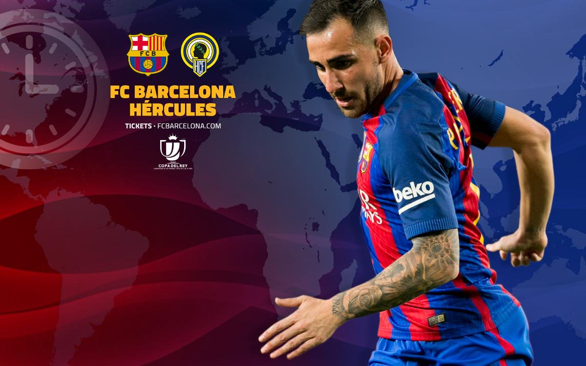 Where and when to watch FC Barcelona v Hércules