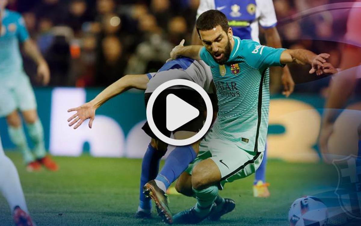 Le résumé de Hercules - FC Barcelone, 16e de finale aller de Coupe du Roi, en vidéo (1-1)