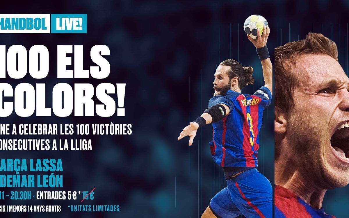 Vine a celebrar els 100 triomfs en Lliga del Barça d'handbol