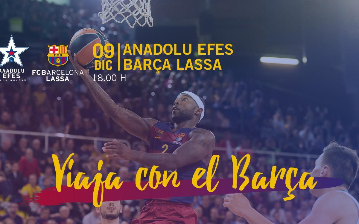 Viajes para acompañar el Barça Lassa de baloncesto a Estambul y Moscú