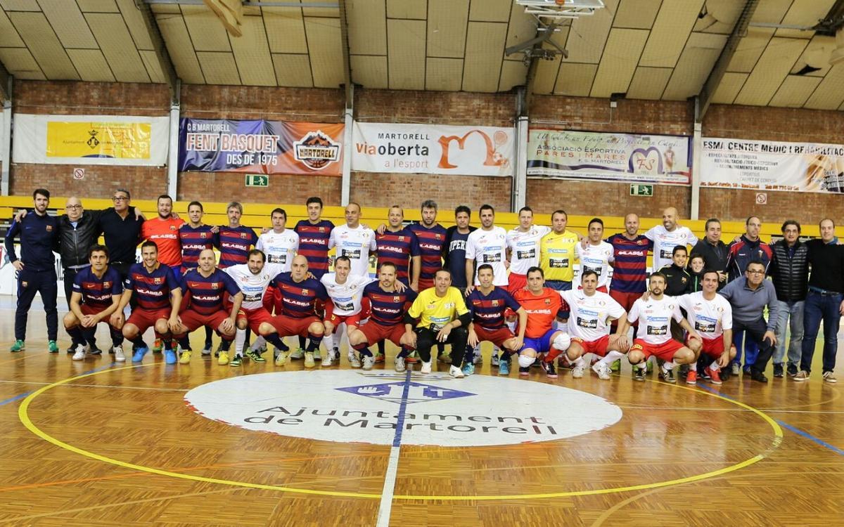 Los ex jugadores del Barça colaboran con La Marató de TV3