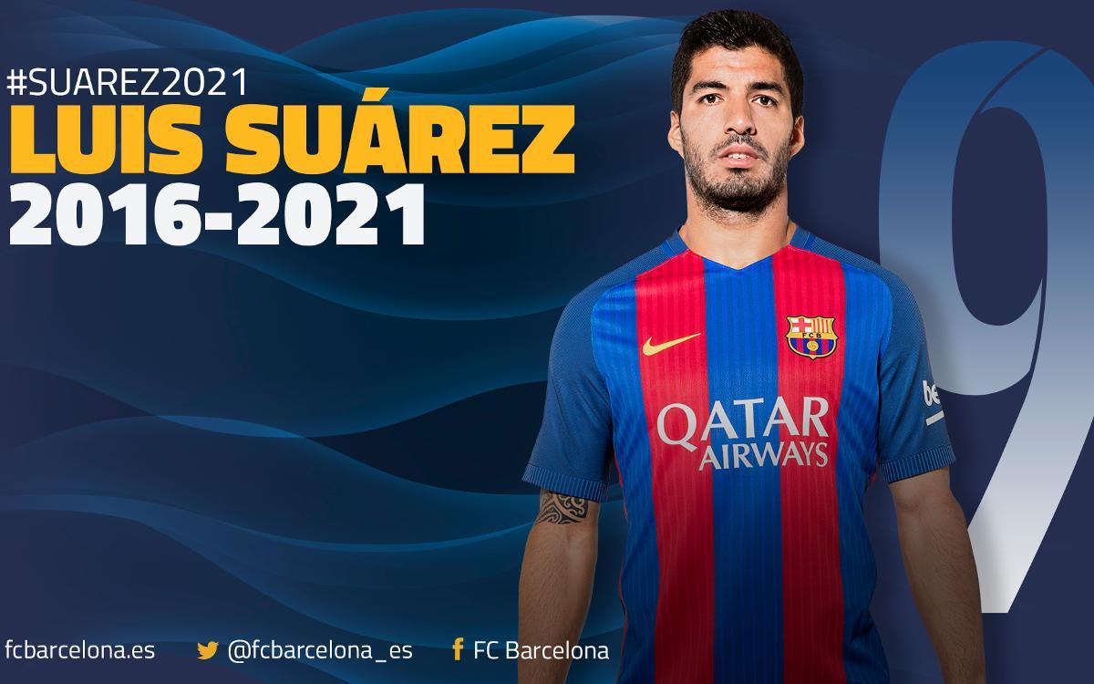 Luis Suárez, azulgrana hasta el 2021