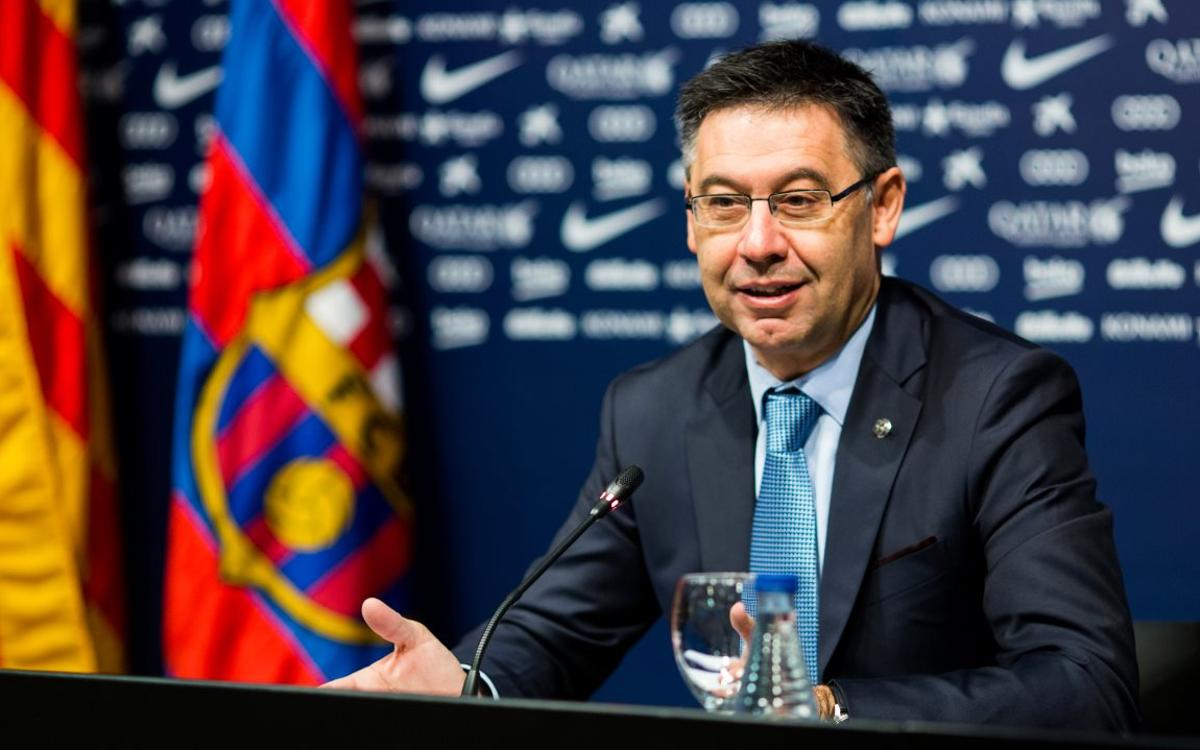 Bartomeu: We will do everything we can to keep Messi at FC Barcelona as this is his home