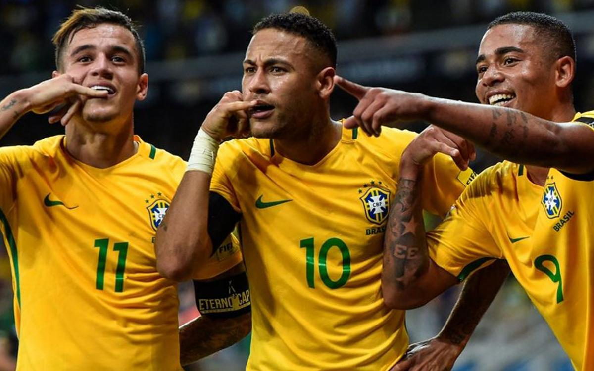 La Brasil de Neymar Jr, autor de un gol, supera a la Argentina de Mascherano y Messi (3-0)