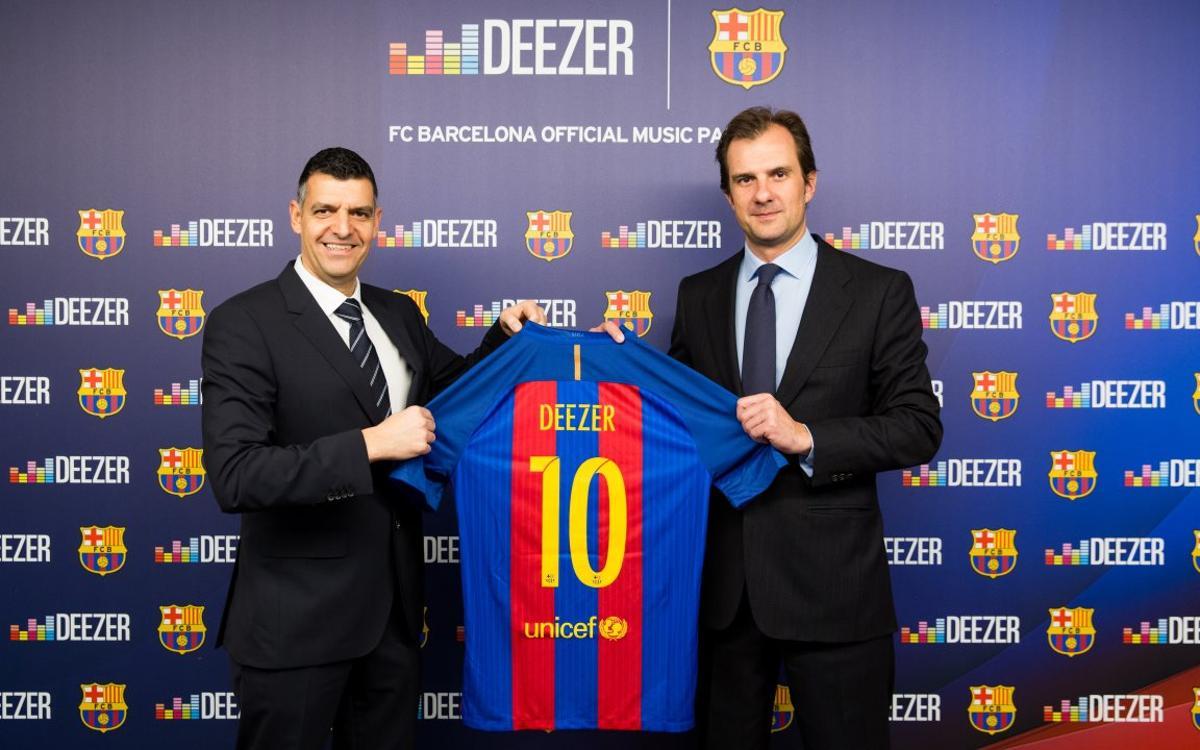 Deezer, nou patrocinador oficial de música del FC Barcelona