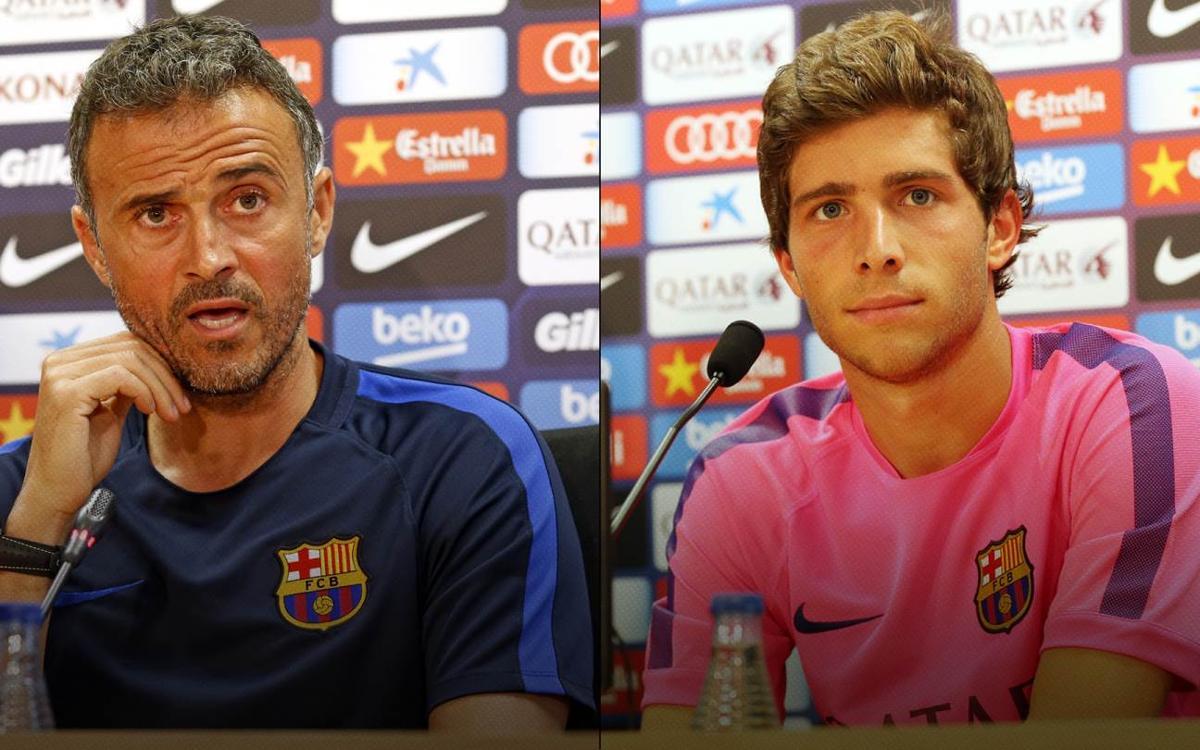 En directo, la rueda de prensa de Luis Enrique y Sergi Roberto