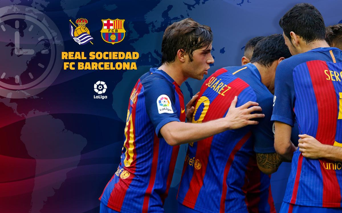 When and where to watch Real Sociedad v FC Barcelona