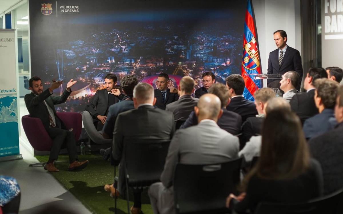 FC Barcelona, ESADE, LaLiga, MLS and NBA share ideas at Barça offices in New York