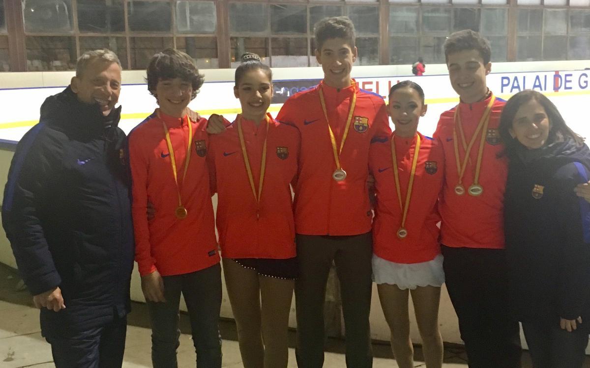 Éxito azulgrana en el Campeonato de España absoluto de Vielha