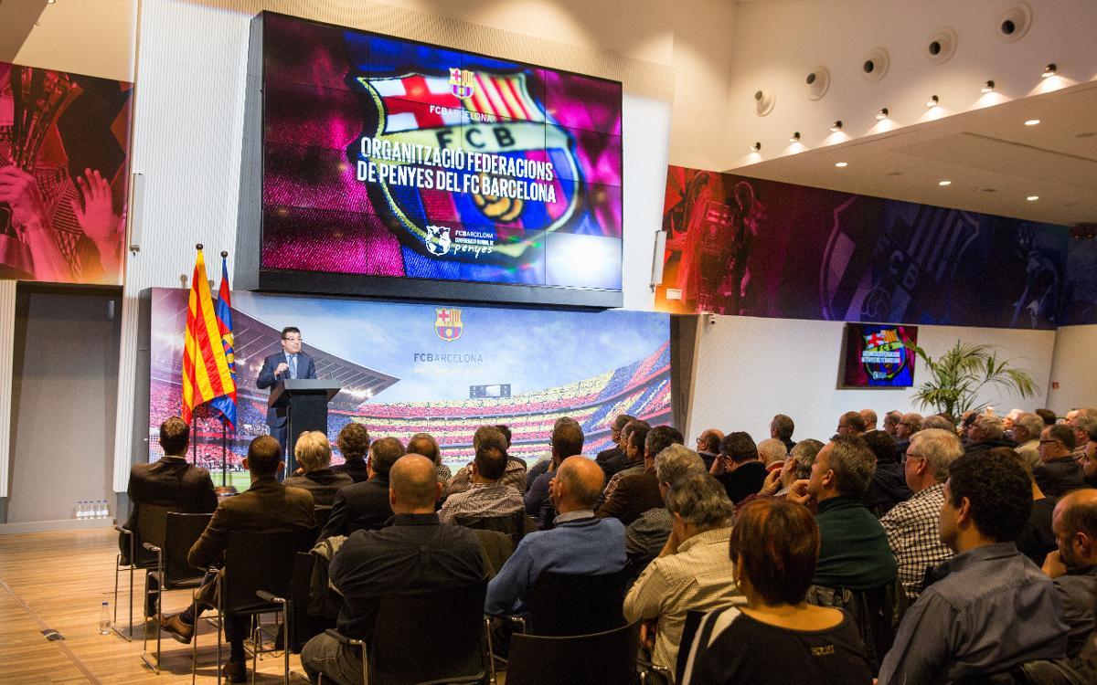 La Confederación Mundial de Peñas presentó un modelo pionero en el mundo de organización de las peñas del FC Barcelona