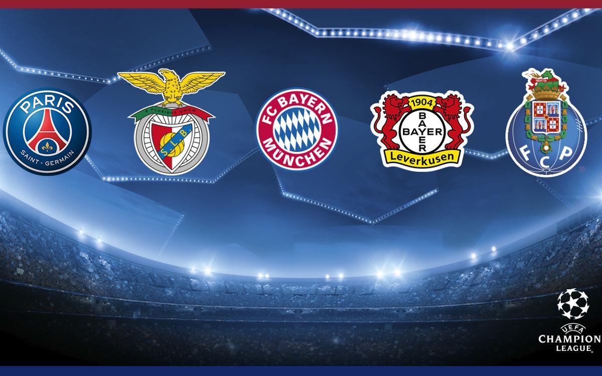 Les 5 possibles adversaires du FC Barcelone en 8èmes de finale de la Ligue des Champions