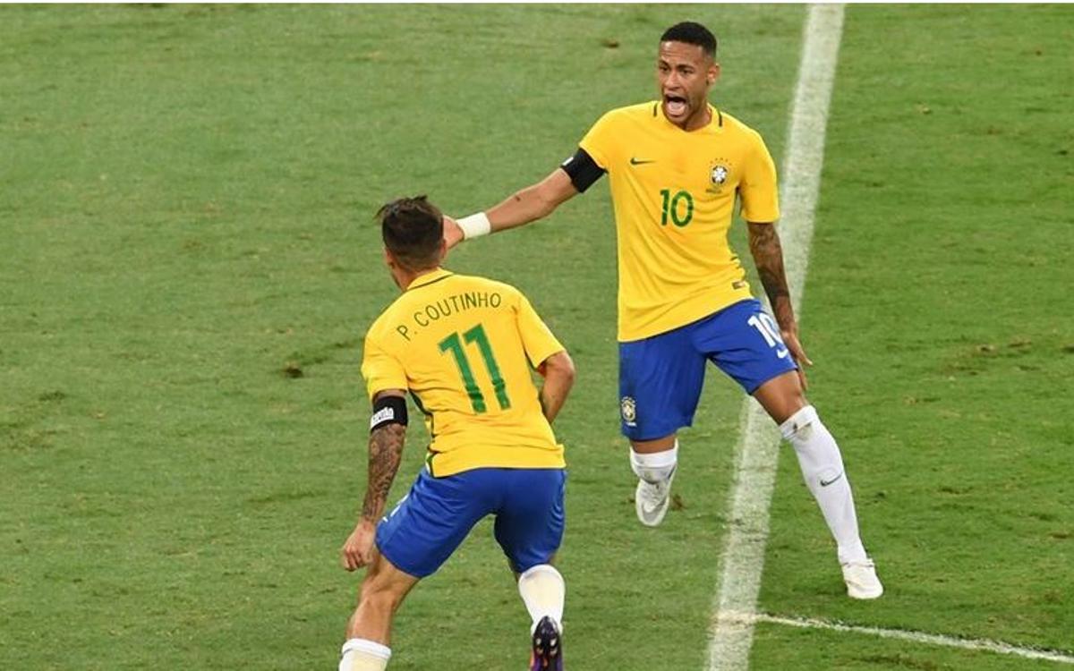 ネイマールのブラジル、メッシ、マスチェラーノのアルゼンチンを制す(3-0)