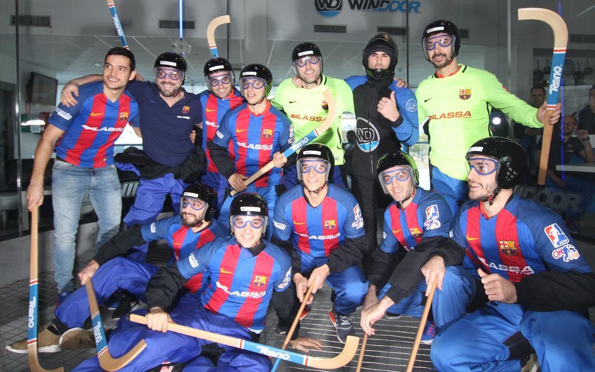 El Barça Lassa d'hoquei patins aprèn a volar