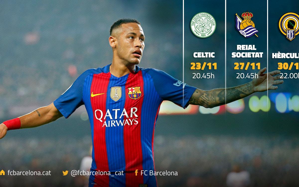 Triple desplaçament en Champions, Lliga i Copa del Rei