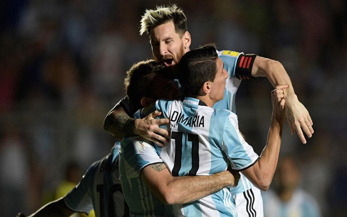Messi stars in Argentina's 3–0 victory over Colombia