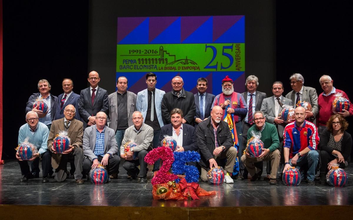 Multitudinària celebració dels 25 anys de la PB de la Bisbal d'Empordà
