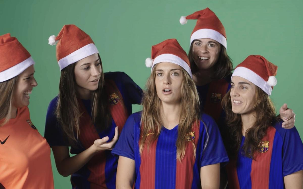 The making of Barça Women's Christmas greetings