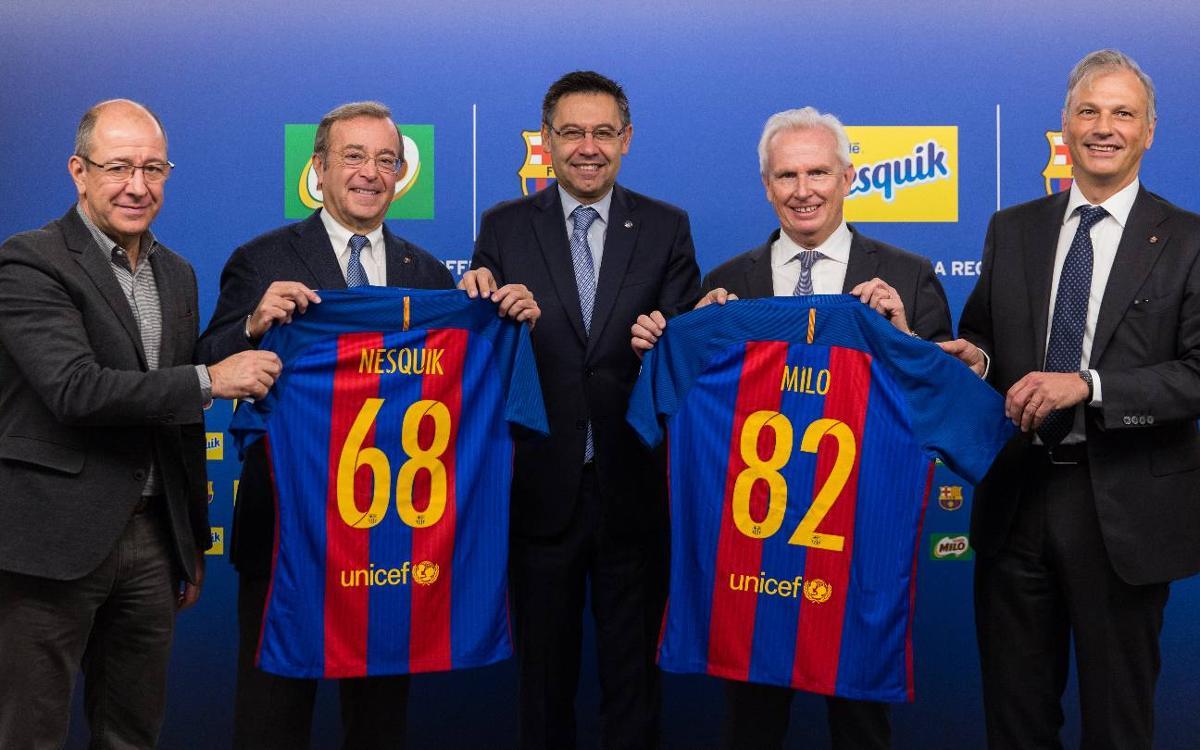 Nestlé Milo, sponsor global du FC Barcelone pour 4 ans