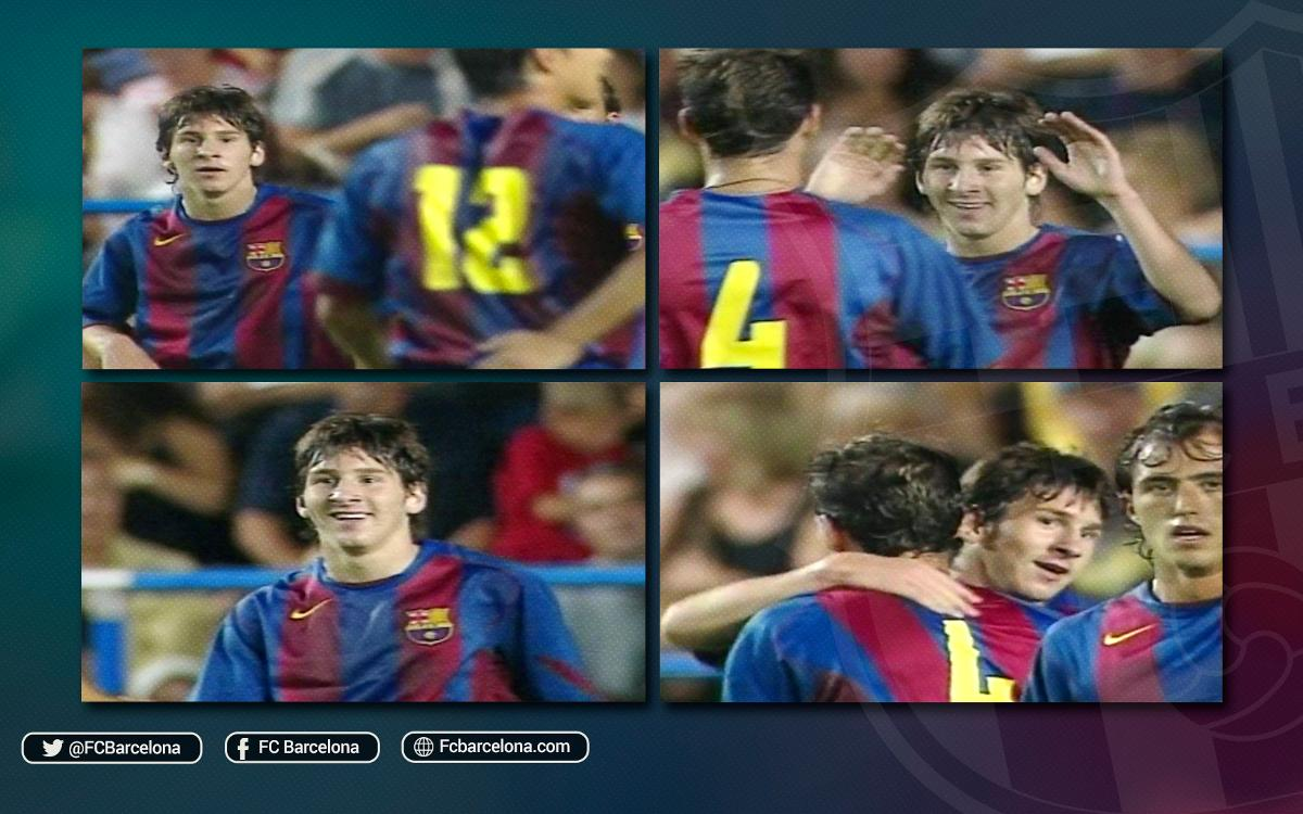 Do you remember Leo Messi's first ever goal for FC Barcelona?