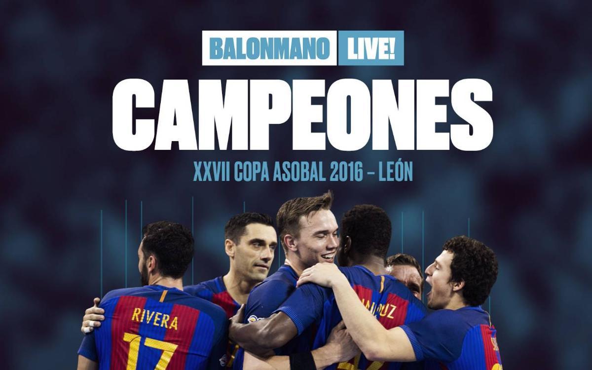 La duodécima Copa Asobal ya es del Barça de balonmano