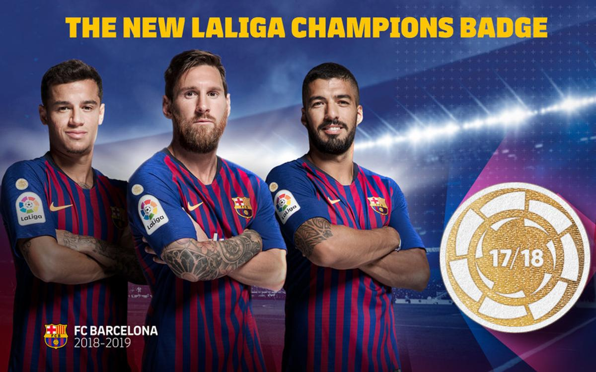 Barça to debut new LaLiga champions badge