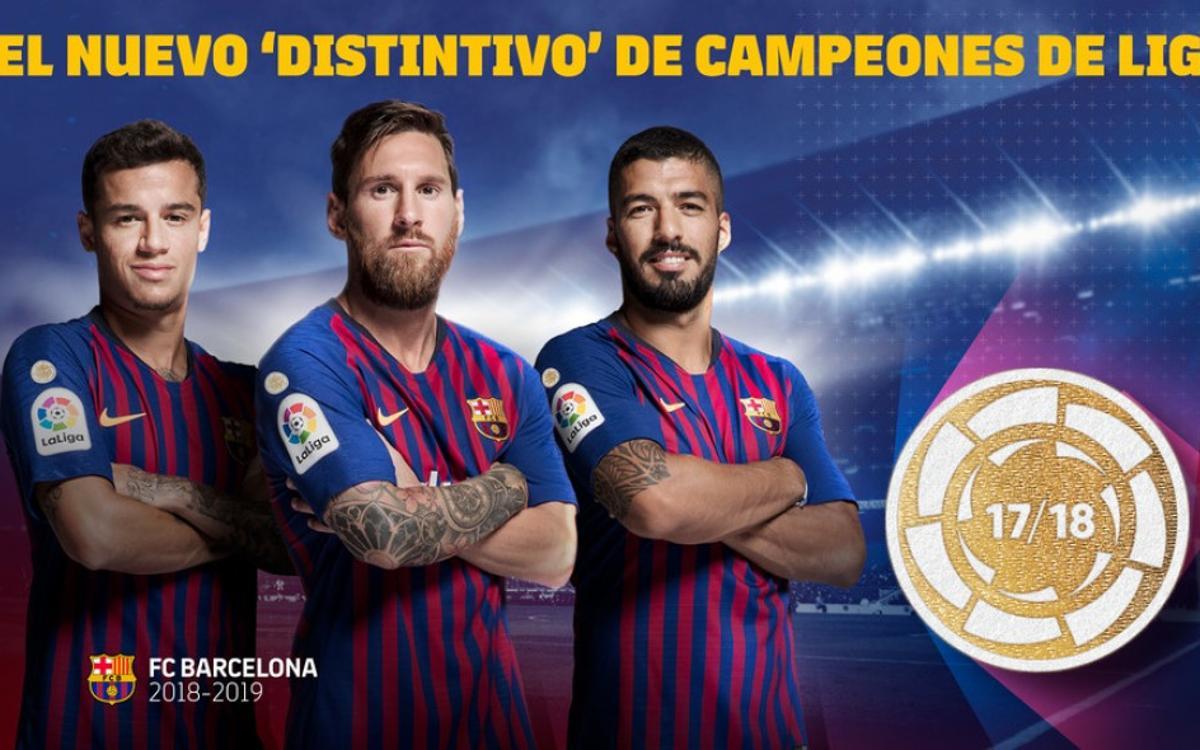 El Barça estrenará el nuevo símbolo de campeón de Liga