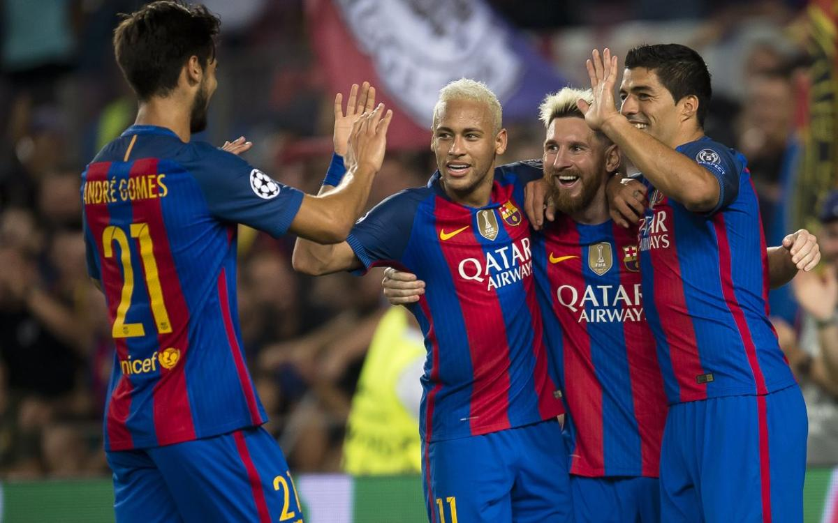 Reunited trident shines in Champions League opener