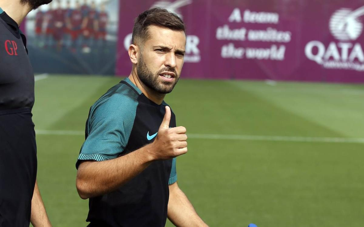 Jordi Alba: short rest benefits FC Barcelona