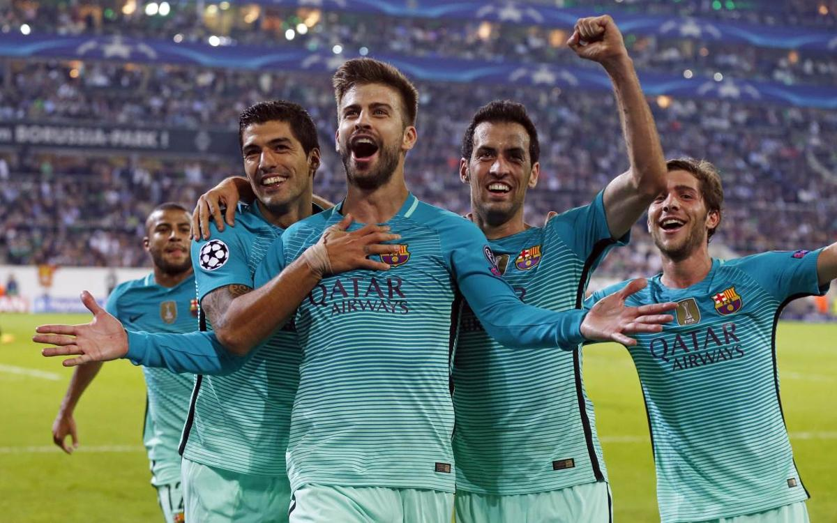 Second-half heroics lift FC Barcelona to a 2–1 victory over Borussia Mönchengladbach