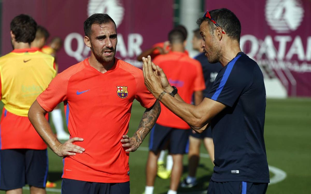 Alcácer trains for first time at FC Barcelona