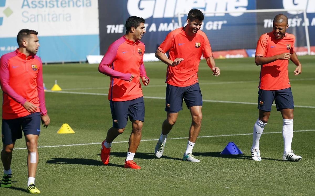 Entrenamiento de recuperación para empezar a pensar en el Atlético