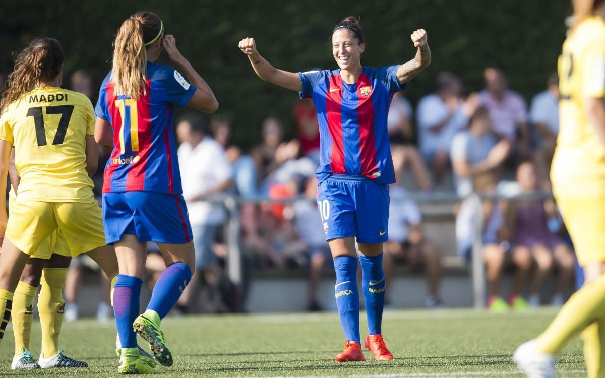 FC Barcelona Femení– Santa Teresa CD: Debut a casa i golejada (6-0)