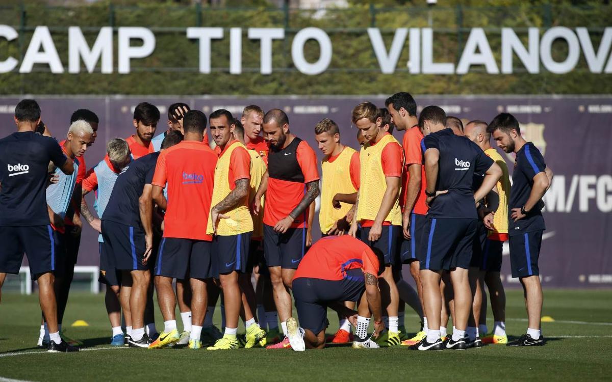 Denis Suárez and Mathieu back in FC Barcelona squad
