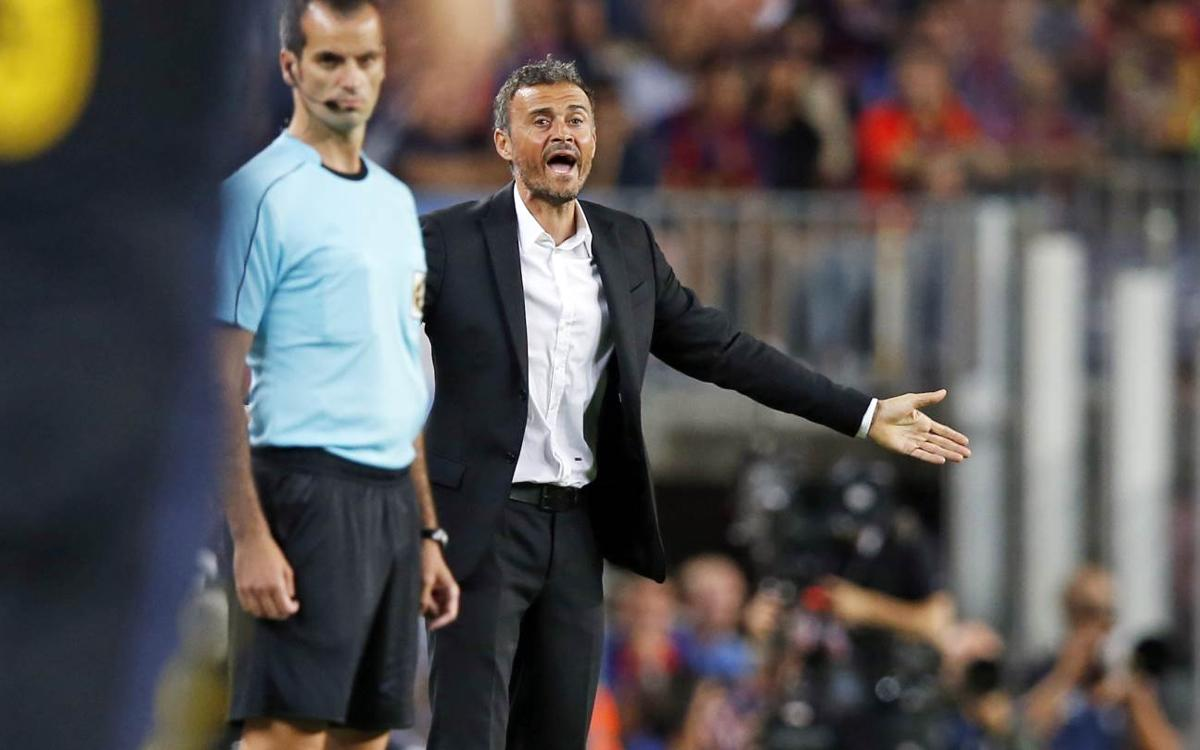 Luis Enrique says Barça deserved to win