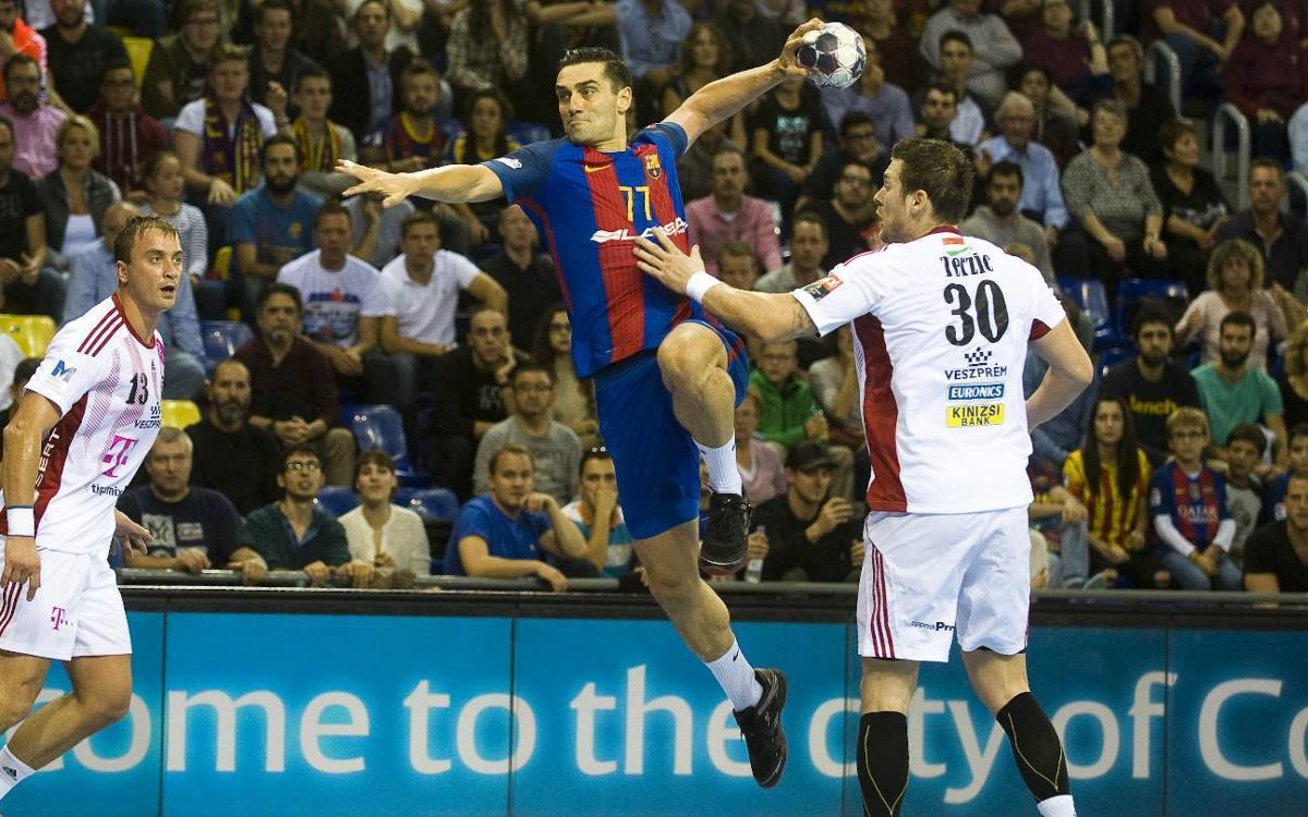 FC Barcelona Lassa - Telekom Veszprém: Victoria ante uno de los favoritos (26-23)