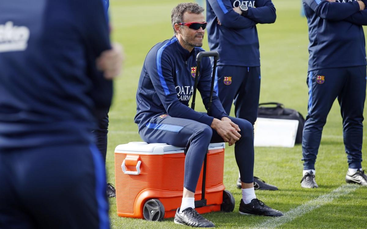 FC Barcelona manager Luis Enrique expects maximum intensity