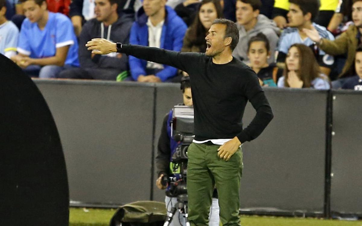 """Luis Enrique: """"Ens aixecarem i competirem en el pròxim partit"""""""