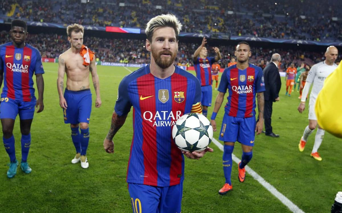 Fc Barcelona 4 0 Manchester City By The Numbers Seventh Champions League Hat Trick For Leo