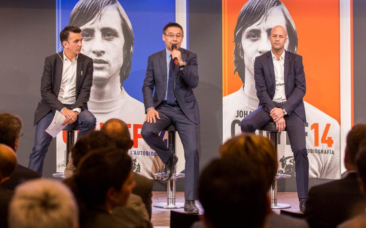 Presentació del llibre 'Johan Cruyff 14. L'autobiografia' a l'Auditori 1899 del FC Barcelona