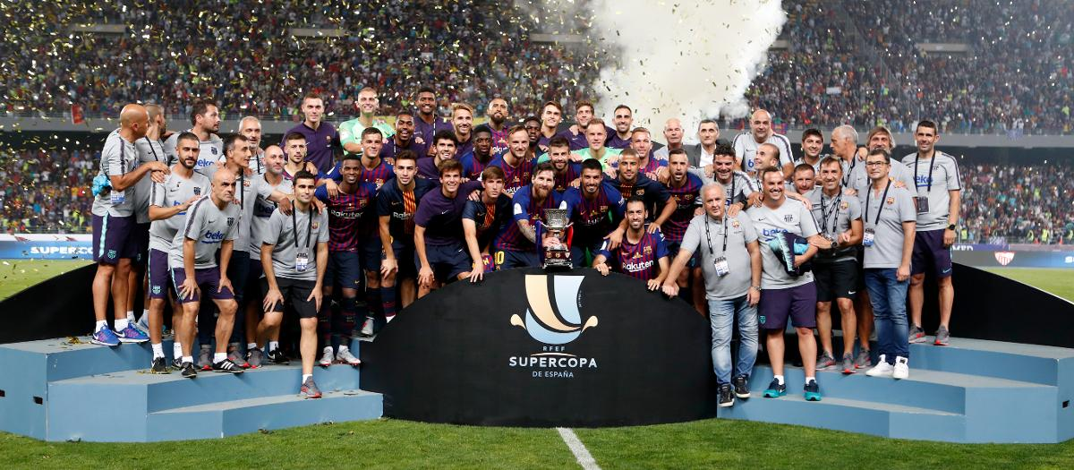 FC Barcelona win the Supercopa de España