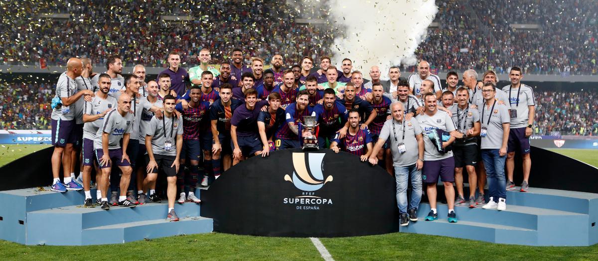 El Barça ganó la Supercopa de España de 2018