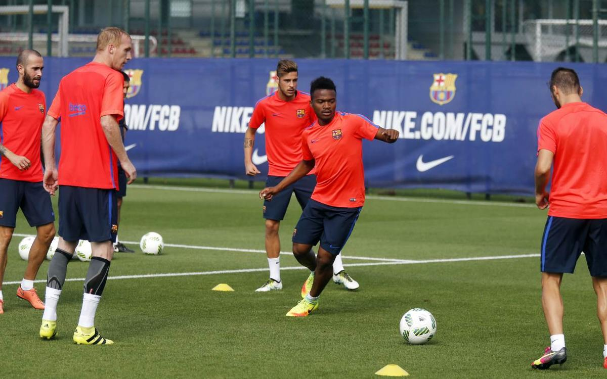 Sessió d'entrenament conjunta amb el Barça B