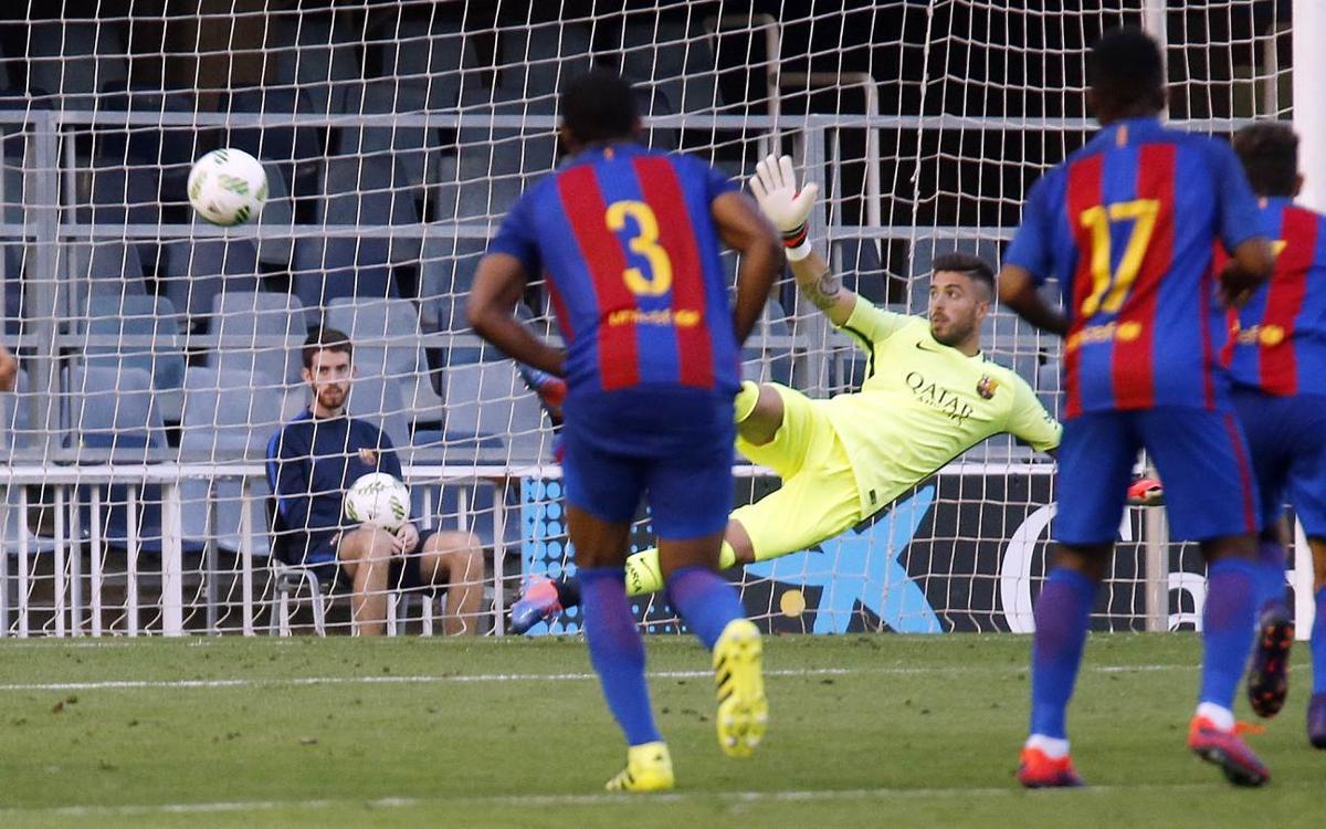 Barça B – Cornellà: Condemna des dels 11 metres (0-1)