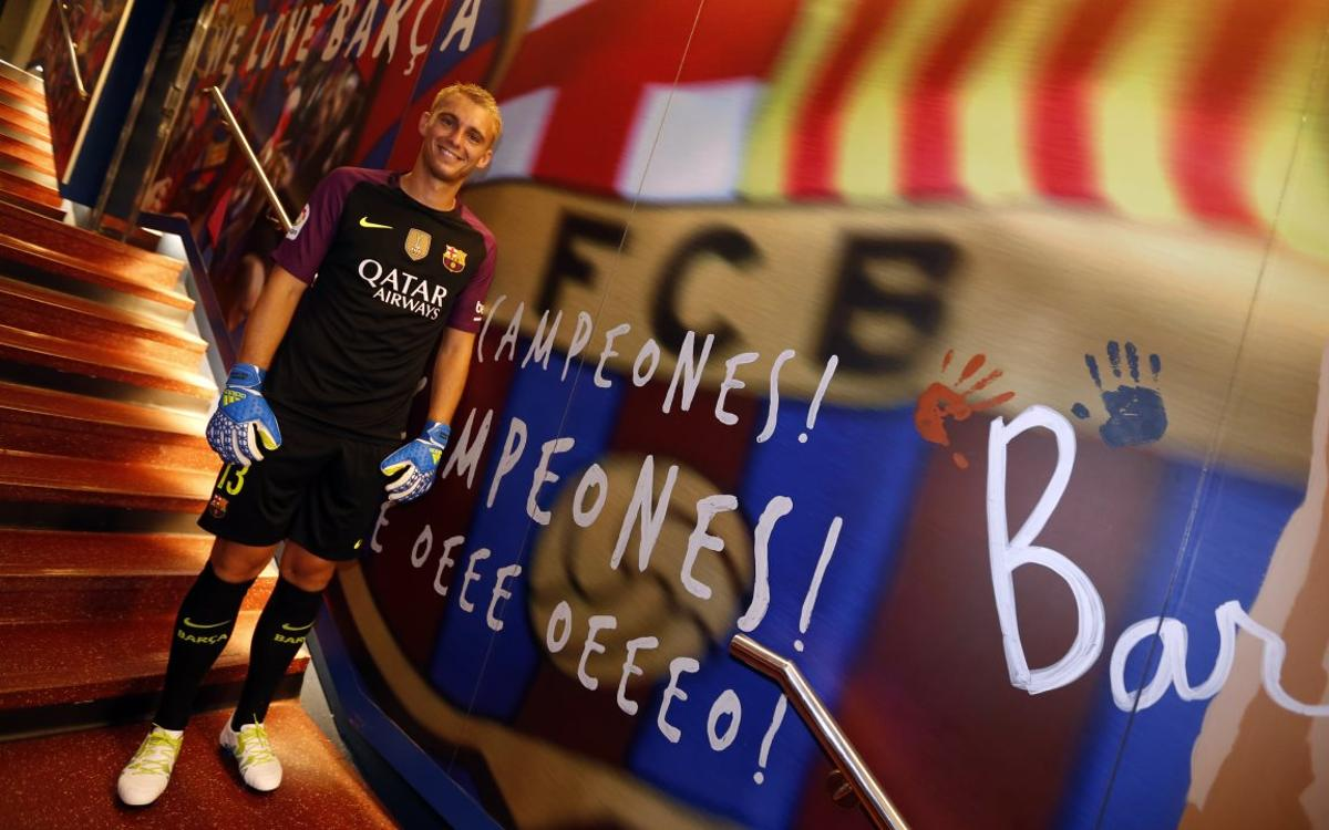 Jasper Cillessen 'very pround to be at Barça'