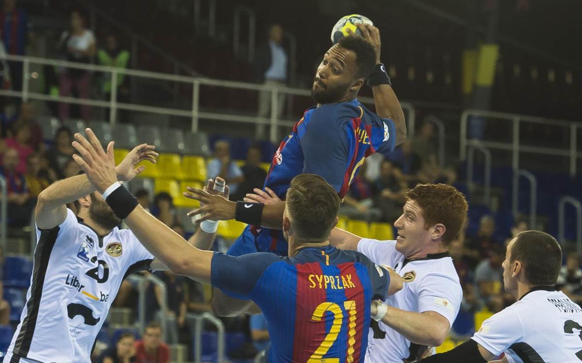 BM Benidorm - FC Barcelona: Reacción a tiempo (27-30)