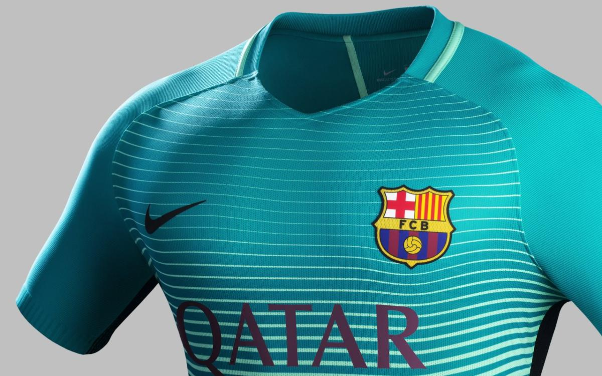 FC Barcelona will wear their third kit for the first time against Mönchengladbach