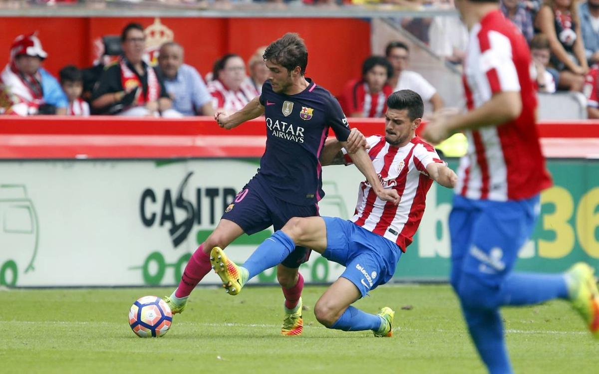 FC Barcelona's win in Gijón by the numbers